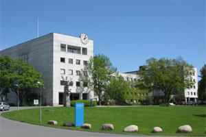 Le paisible bâtiment de la NRK à Oslo